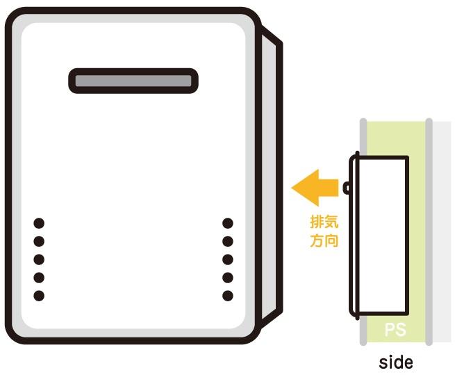 PS設置標準 給湯器